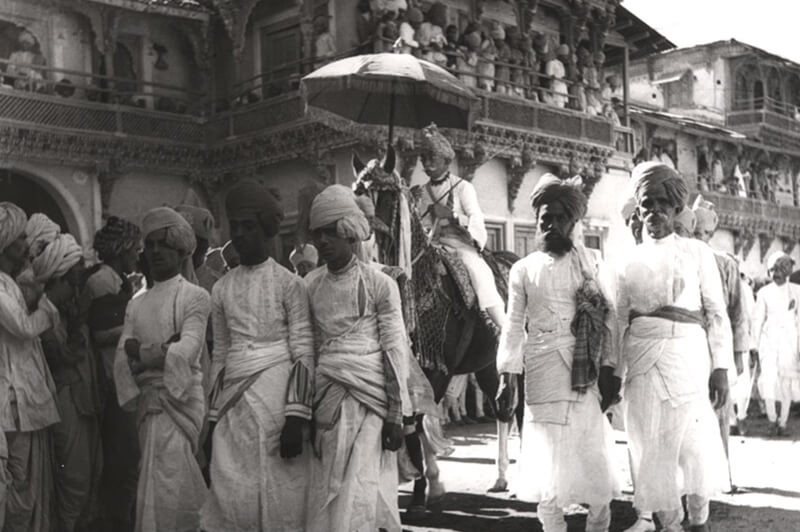 Royal marriage procession, 1930- see on harseback is Jabu Man , who was brother in law of Nawab Taley Mohamed Khan, 1930
